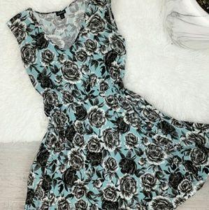 Torrid Black and Blue Floral Dress Size 0X